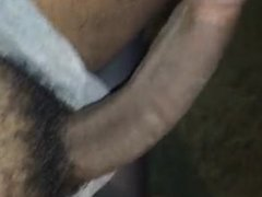 Playing with vidz my hairy  super dick...