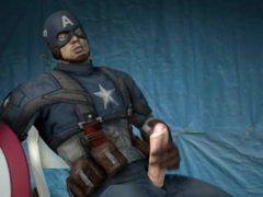 Animated Captain vidz America Jerking  super Off & Cumming