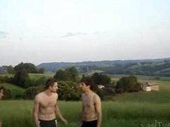 three naked vidz twinks in  super nature spranks