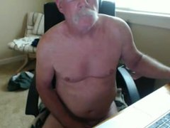 Married grandpa vidz unloading his  super cock