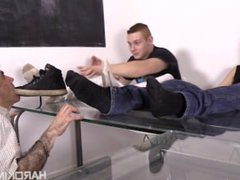 Straight boys vidz humiliate their  super old fag teacher and laugh their asses off