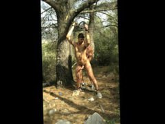 Military Daddy vidz Ties Up,  super Tortures and Fucks Army Son Outdoors in Woods