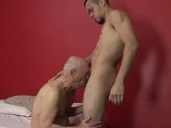 Grandpa fucked vidz by 2  super hot men