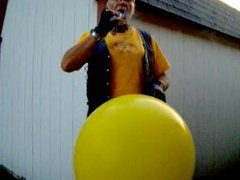 Leatherbiker bitch vidz yellow balloon