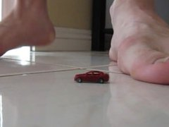 Little Car vidz vs Big  super Foot
