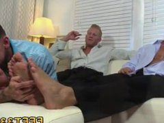 German gay vidz cock sucking  super porn Ricky Worships Johnny & Joey's Feet