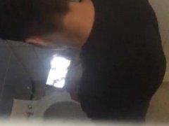 Spy on vidz str8 Arab  super wank and cum in bathroom stall
