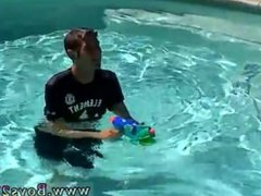 Dad climbs vidz up on  super gay twinks ass tube full length But even the pool can't