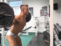 Muscular Lad vidz Speedo Workout  super & Flexing