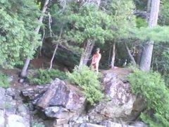 Forest voyeur vidz jerking off  super #16