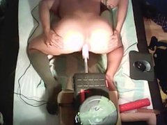 Hot gaping vidz Ass gets  super anal pounded by Fuckmachine