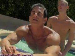 Gay athlete vidz male porn  super Daddy Poolside Prick Loving