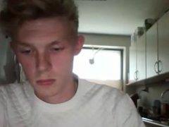Danish Twink vidz Blond Boy  super In The Kitchen & Cam-4 Show With White Blouse 3