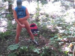 Forest edging vidz jerk off  super session #4
