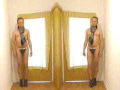 P282 porn vidz bube Mann  super Hotpants High Heels nackt im Flur 7c8a1 Man Tanga slip