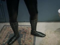 Black latex vidz hero suit