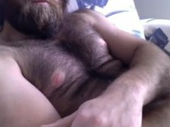 Hairy thick vidz bearded bear  super stud JO on Cam