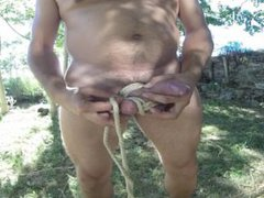 Masturbation with vidz rope, outside  super with huun-huur-tu music background