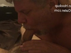 Mature Silver vidz Daddybear Slurping  super on my Foreskin