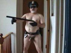 chubby cop vidz playing cock