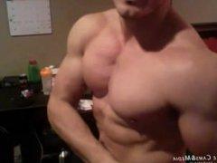 New Stud vidz at JockMenLive  super - Stacked Nerd, a super handsome muscle God