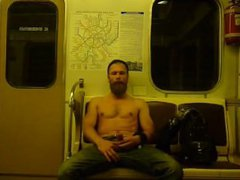 Stroking On vidz A Russian  super Subway
