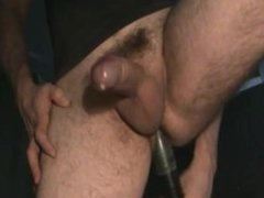 Milking his vidz meaty uncut  super cock