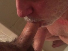 SIlverdaddy Daddybear vidz Piss Drinking  super from Uncut Cock