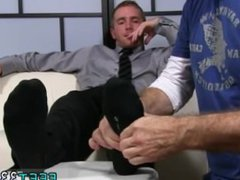 Gay guys vidz having getting  super off on feet Scott Has A New Foot Slave
