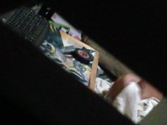 spying on vidz my friends  super brother jerking off at midnight before bed