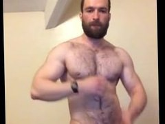 Hairy Muscle vidz Guy Jerks  super Off