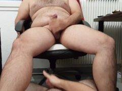 Hot Chub vidz Slave Guy  super Suck Balls, Cock and Feets of BearLikeBoy !