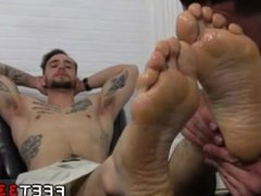 Gay men vidz having hardcore  super foot and fisting sex and suck black male foot