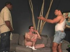 Lusty white vidz guy gets  super gangbanged by blacks