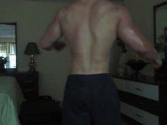 Oiled muscle vidz flexing &  super posing