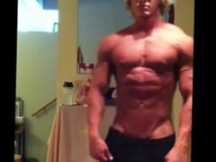 Teen Muscle vidz God shirt  super rip & flexing
