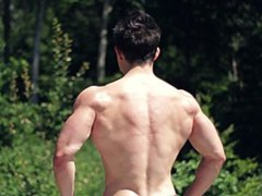 18 yo vidz German Teen  super Bodybuilder Flexing