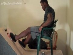 WHITE SLAVE vidz SNIFFS SOCKS  super OF STRAIGHT BLACK MASTER