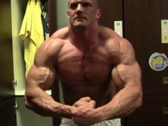 Locker room vidz muscle posing