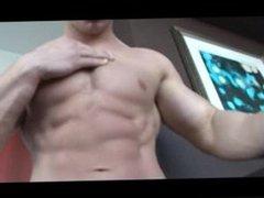 Young Bodybuilder vidz posing Naked  super in Hotel Room