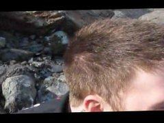 Redhead sucking vidz cock in  super the mountains