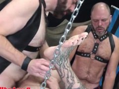 Hairy bear vidz spitroasted serving  super two cocks