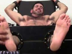 Ryan gives vidz kyler a  super foot massage and mature gay man in his socked feet