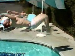 nude gay vidz porn movies  super Zack & Mike - Jackin by the Pool