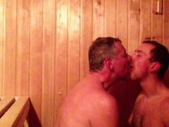 Daddy Son vidz Cock Suck  super in the Sauna