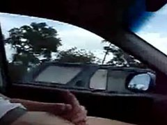 Guy jerking vidz off for  super man driving next to him hoping he could see him