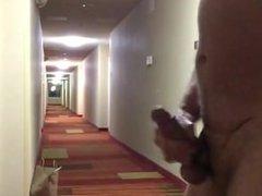 Jerking off vidz in hotel  super hallway