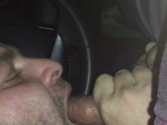 sucking off vidz uncut DL  super Colombian cock in his car