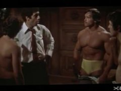 Arnold Looking vidz Massive in  super Forst Uncredited Role Flexing his Pecs