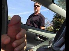 jerking off vidz in car  super while older man watches